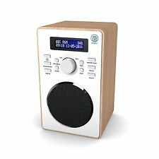 Majority Barton Compact Digital DAB+ DAB FM Radio Wood Effect Alarm Clock
