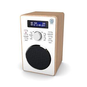 Majority-Barton-II-Compact-Portable-Digital-DAB-DAB-FM-Radio-Wood-Effect
