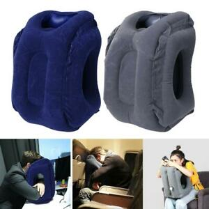Inflatable-Air-Travel-Pillow-Cushion-Neck-flight-Comfortable-Support-Nap-AU-lot