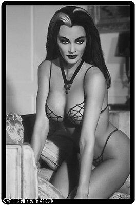 Sexy Lily Munster Pinup Refrigerator Magnet
