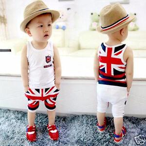 Toddler-Kids-Baby-Boys-Summer-T-shirt-Vest-Tops-Pants-Clothes-Outfits-2pcs-Set