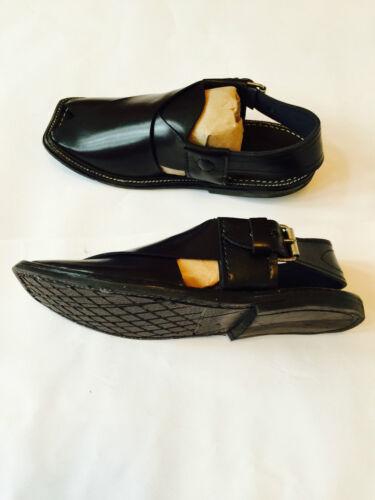 Islam Afghan Désert Mens en Cuir Authentic Arab New Shoes Dress Sandales Noires Tv4Hw