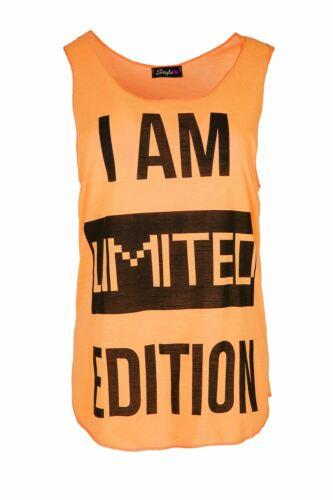 Women Ladies Sleeveless Slogan Love Training Miss Fit Sports Gym Edging Vest Top
