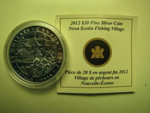 2012 Proof $20 Group of Seven #2-Nova Scotia Fishing Village-Arthur Lismer COIN/&