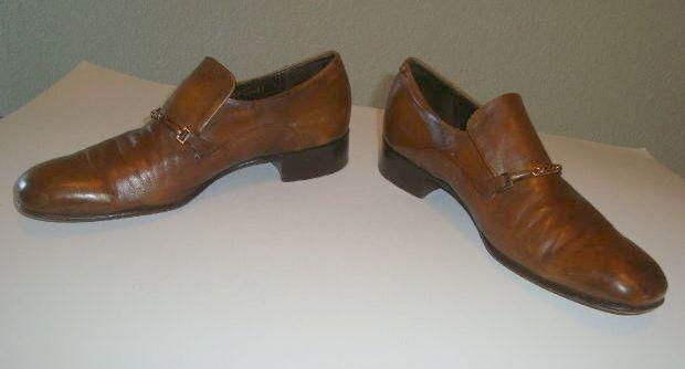 VTG Johnston  & Murphy Aristocraft Brown Dress Slip-on shoes size 9.5 C A NARROW