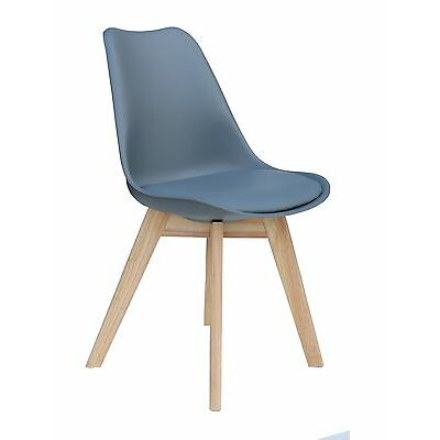 """designer-stuhl """" Paris """" chaise de salle à manger cuisine bureau gris 221068"""