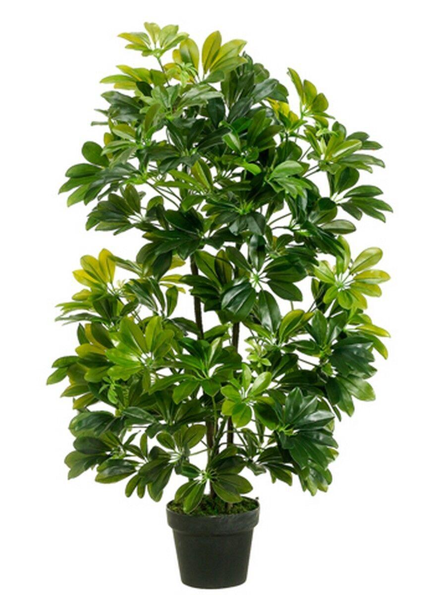 Outdoor Artificial 40  Palm Tree UV Bush Topiary Schefflera Pot Patio 3 4 Porch