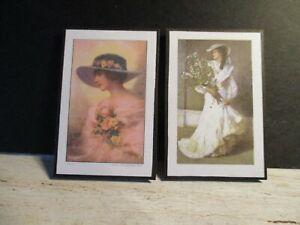 2 Poupées Miniature Dames Victoriennes Photos Cz9-afficher Le Titre D'origine Un Enrichit Et Nutritif Pour Le Foie Et Les Rein