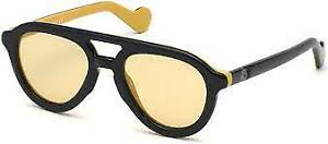 Authentic MONCLER ML 0078-05E Sunglasses Black / Brown *NEW* 52 mm