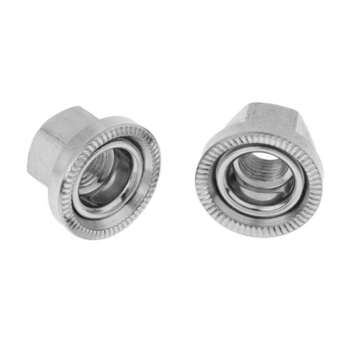 4x 9mm BMX Hub Axle Nut Replacemnet Stainless Steel for Mountain Road Bikes