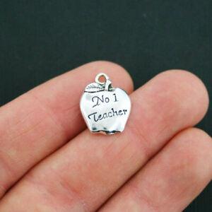 silver pendants teacher antique fruit food charm nature 50 CHARMS small APPLE
