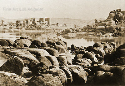 Francis Frith Photo, Approach to Philae, the Nile River, Egypt 1857