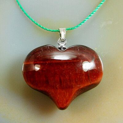 20x25mm Natural Crystal Gemstone Reiki Chakra Healing Pendant Heart Pendant Bead
