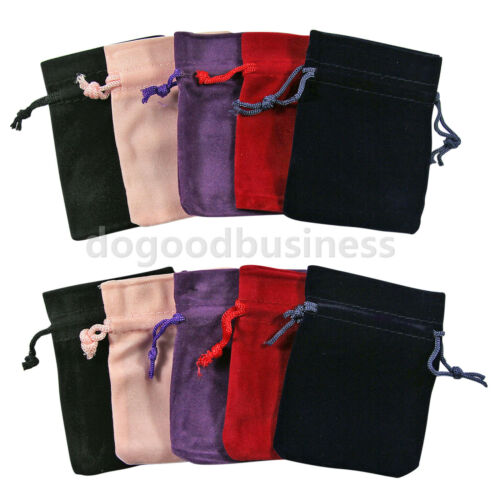 1-10pcs Velvet Drawstring Gift Bags Wedding Jewellery Candy Party Pouch Bag