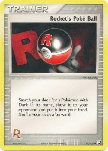 Uncommon NM Team Rocket Returns Pokemon Rocket/'s Poke Ball 89//109