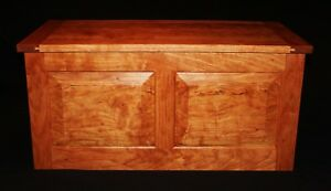 Image Is Loading Handmade Cherry Curly Flame Hope Chest With Cedar