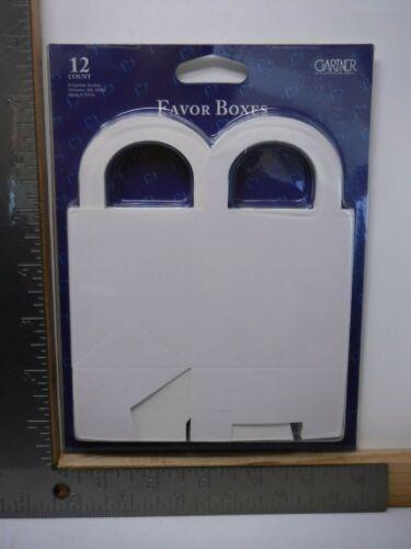 GARTNER PLAIN WHITE FAVOR BOXES 12 COUNT 3X3X2.25 NEW A18421