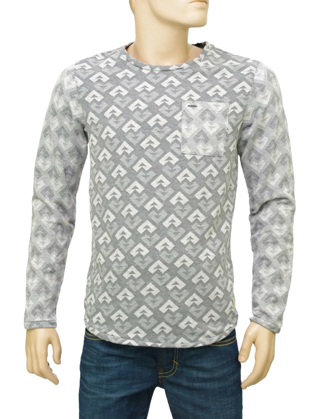 SCOTCH and SODA Sweat Shirt léger homme grigio LONGSLEEVE JACQUARD knit grigio