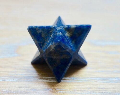 Lapis Lazuli Merkaba Star Point Stone Healing Natural Rock Reiki Energy Handmade