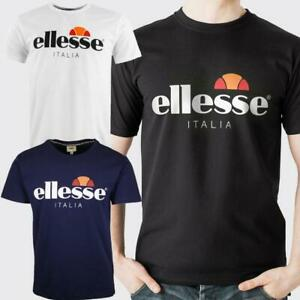 Ellesse Mens T Shirt Emilien TMC 7 Italia Short Sleeve Crew Neck Casual Tee Top
