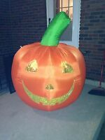 5' Led Airblown Inflatable Halloween Jack-o-lantern Pumpkin Yard Decor Jack