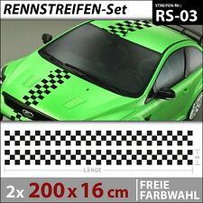 Racing Flag Stripes Aufkleber Car Tuning Zierstreifen Autoaufkleber . RS-03