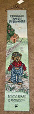 Boyds Bears Bailey ~Friendship Travels Everywhere Tapestry Wall Hanging Bellpull