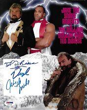 Ted DiBiase Virgil Jake The Snake Roberts Signed WWE 8x10 Photo PSA/DNA COA Auto
