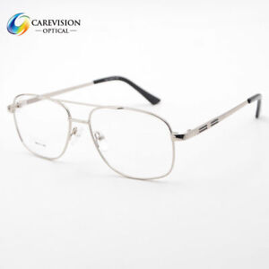 03b6a64841 Metal Pilot Style Eyeglasses Frames Men s Full Rim Myopia Glasses ...