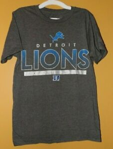 bb3af40b Detroit Lions NFL Football Gray Graphic T-Shirt Mens Small New ...