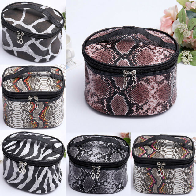 6ddde22834cd Large Travel Makeup Bag Organizer Cosmetic Train Case Toiletry Bags With  Handle