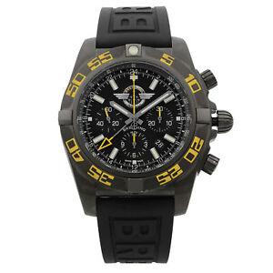 Breitling Chronomat GMT PVD Steel Black Dial Mens Watch MB04108P/BD76-155S