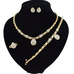 3-hugs-amp-kisses-necklace-with-bracelet-18-034-Xo-ring-size-9-18k-Layered-GF
