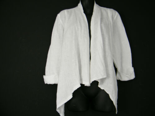 LAGENLOOK 100/% LINEN  JACKET IN 7 COLOURS ONE SIZE TO FIT SIZES 10-16