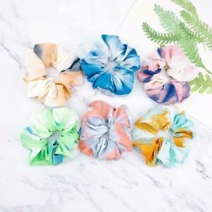Rainbow-Soft-Velvet-Scrunchies-Tie-dye-Hair-Ring-Rubber-Hair-Rope-Band-Elas-G6W3