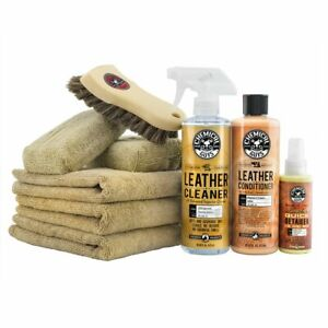 Chemical Guys HOL303 Leather Cleaner & Conditioner Leather Care Kit (9 Piece)