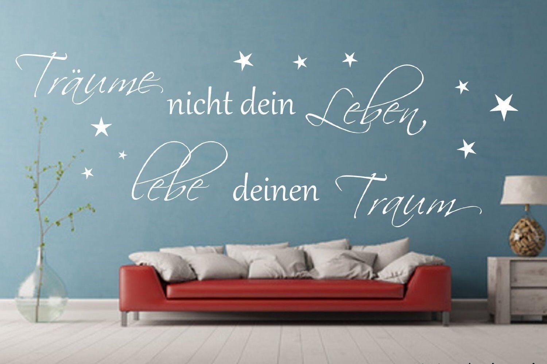 Wandtattoo Wandspruch Schlafzimmer Träume nicht dein leben,lebe deinen Traum       Hohe Qualität  db76e0