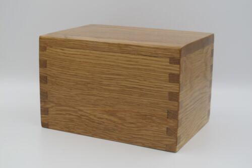 Cremation Urn Oak Wood Handmade