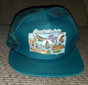25b0d8530 Details about Vintage South Dakota Mesh Trucker Hipster SnapBack Hat Cap  foam NEW OLD STOCK