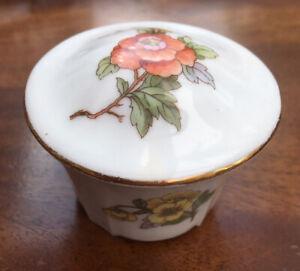 Vintage-UNION-K-Trinket-Dish-Porcelain-Floral-CZECHOSLOVAKIA-5-Cm