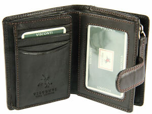 Image Is Loading Visconti Ht31 Genuine Leather Id Credit Card Holder