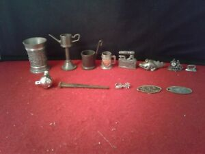 Details about Metal Cup Pump Bucket Stein Iron Alligator Clock + Lot 13  Miniature Doll House