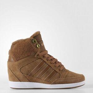 Faceta Insustituible Sudamerica  Adidas NEO Super Wedge Suede Women's Warm Winter Sneakers AW4276 Hi Tops  Rare | eBay