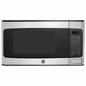 GE 1.1 Cu Ft Countertop Stainless Steel Microwave Oven (Refurbished) (Damaged)