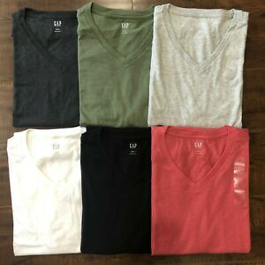 GAP-Homme-a-manches-courtes-V-Neck-Tee-Everyday-V-Neck-T-shirt-Taille-S-M-L-XL-XXL