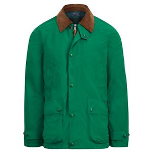 Polo-Ralph-Lauren-Mens-Leather-Twill-Barn-Coat-Aviator-Green-Jacket-Parka-NWT