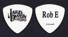 Jake Owen Robbie Emerson White Bass Guitar Pick - 2012 Tour