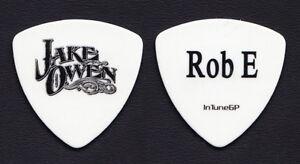 Bien Jake Owen Robbie Emerson White Bass Guitar Pick - 2012 Tour-afficher Le Titre D'origine