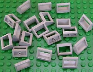 20 x Fliesen Fliese hellgrau mit Griff Halter Bügel 1x2 2432 NEUWARE a24 LEGO