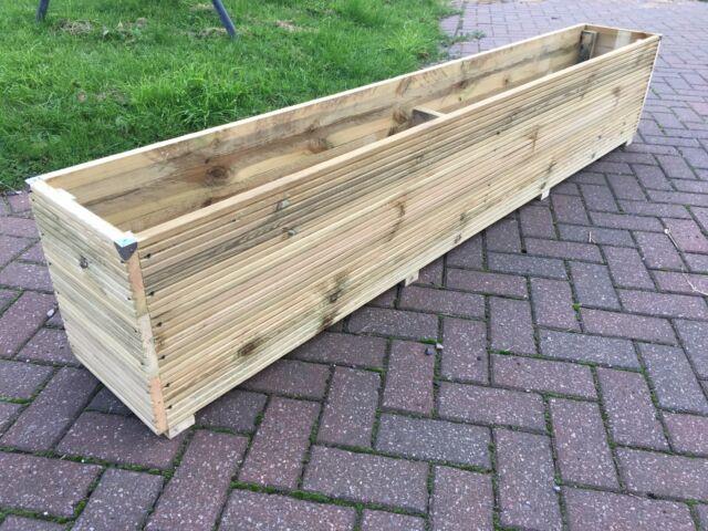 Rustic Large  Wooden Garden Planter Length 100cm